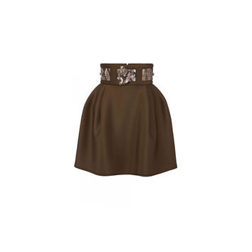 Elisabetta Franchi Mini Skirt With Python Applications (Women's)