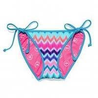Ruched-back String Bikini Bottom - PINK - Victoria's Secret