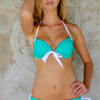 Ultra push-up teal swimsuit - FREE SHIPPING! - Marilyn bikini by HOBO IslandWear