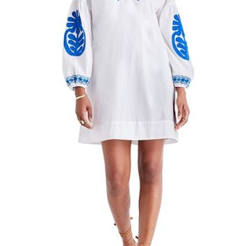 Madewell Embroidered Appliqué Shift Dress | Nordstrom