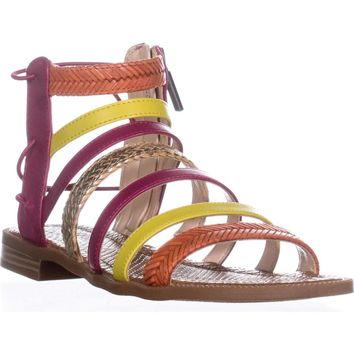 Nine West Xema Gladiator Sandals, Pink Multi, 6.5 US