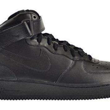 Nike Air Force 1 Mid '07 Men's Shoes Black/Black-Black 315123-001 nike air force