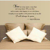 I Will Always Be Yours Wall Decal Quote Vinyl Love The Notebook Large Nice Sticker:Amazon:Home Improvement