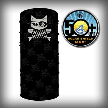Monk Wrap Neck Gaiter - Face Shield - Bandana - Cat Pirate