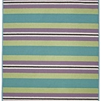 Riley Stripes 4' x 6' Rug - Teal College Dorm Room Decorations Rugs For College Dorm Supplies College Girls