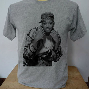 Will Smith Fresh Prince of Bel Air Shirt TShirt T Shirt Tee Shirts Gray Shirt Unisex Size S,M,L,XL