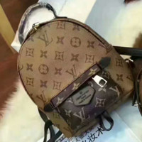 LV Women Casual School Bag Cowhide Leather Backpack G-AGG-CZDL