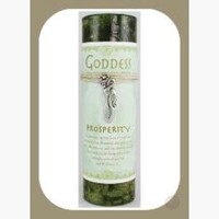"""Prosperity"" Pillar Candle with Goddess Necklace"