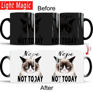 """""""Nope, Not Today"""" Cat Color Changing Coffee Mug 350ml"""