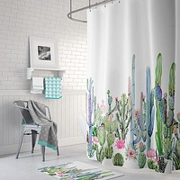 Colorful Cactus Shower Curtain - 3 Designs - Sale Ending!