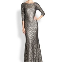 enabled: truelabel: Kay Unger-Stretch Lace Gown