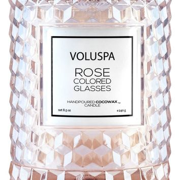 Voluspa Rose Cloche Cover Glass Candle | Nordstrom