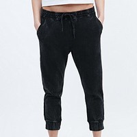 BDG Acid Wash Joggers in Black - Urban Outfitters