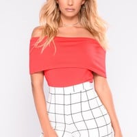 Worth It All Bandage Crop Top - Red