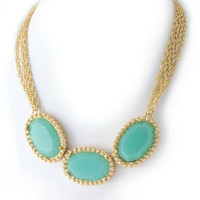 Pree Brulee - Mint Cupcake Necklace