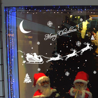 Christmas Decoration Christmas Glass Wall Stickers Window Stickers Enfeites De Natal navidad Christmas Decoration For Home natal