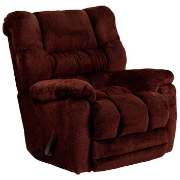 Flash Furniture Contemporary Temptation Merlot Microfiber Rocker Recliner [AM-9560-6451-GG]