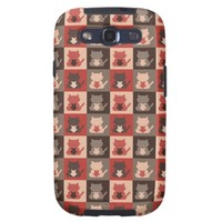 Cute Cat Pattern Galaxy S3 Cover
