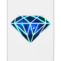 "Space Diamond Fridge Magnet 2""x3"