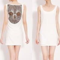 BlueBand — Lace Hollow Skull Back Dress