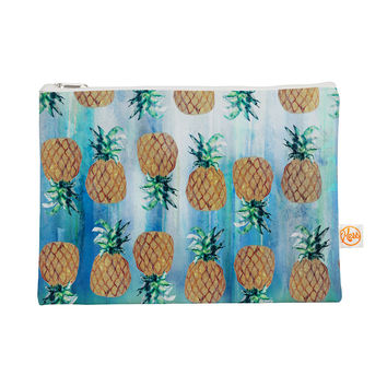 "Nikki Strange ""Pineapple Beach"" Blue Brown Everything Bag"