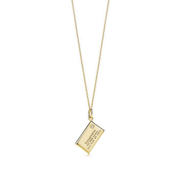 Tiffany & Co. - Envelope charm and chain