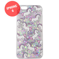 Liquid Unicorn Glitter iPhone 6 Case for (for 6 ONLY)