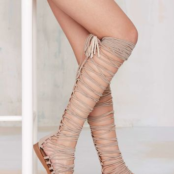 Jeffrey Campbell Valeria Suede Lace-Up Sandal