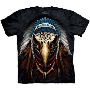 EAGLE SPIRIT CHIEF T-SHIRT by The Mountain Native American Indian Face Tee NEW!