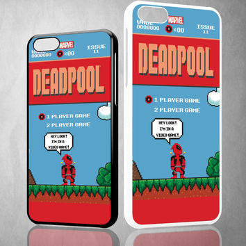 DEADPOOL MARIO BROSS Z1218 iPhone 4S 5S 5C 6 6Plus, iPod 4 5, LG G2 G3 Nexus 4 5, Sony Z2 Case