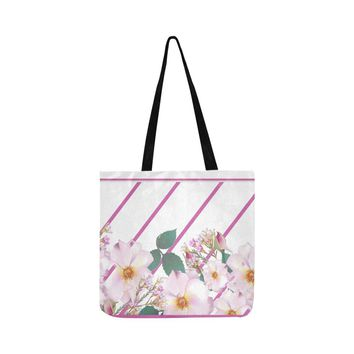 Wild Flowers Small Lightweight Shopping Tote Bag