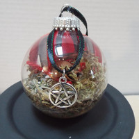 Witch Protection Ball, Handmade Protection Ball, Glass Ornament, Wicca Ball, Pagan Ball, Glass Protection Ball,Witch Ball