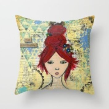 Throw Pillows by Croppin'Spree | Society6