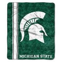 Michigan State Spartans NCAA Sherpa Throw (Jersey Series) (50in x 60in)