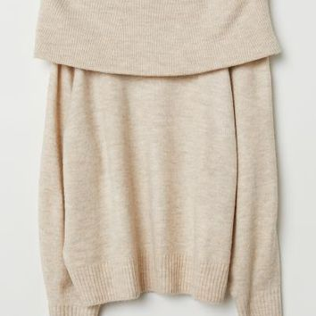 H&M+ Knit Sweater - Beige - Ladies | H&M US