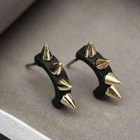 Punk Personality Rivet Stud Earrings from http://www.looback.com/