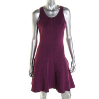 Milly Womens Knit Sleeveless Casual Dress