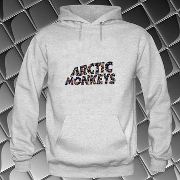 arctic monkeys flower Hoodies Hoodie Sweatshirt Sweater white and beauty variant color Unisex size