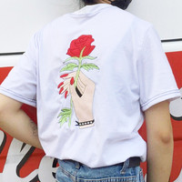 TAKE MY ROSE TEE ( BLACK / WHITE )