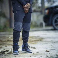 Rudimental Paneled Terry Joggers Black