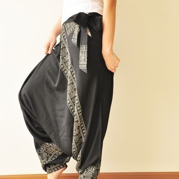 All Around The World...Black Printed Rayon by aftershowershop