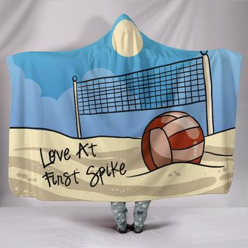 Volleyball Hooded Blanket - Love At First Spike