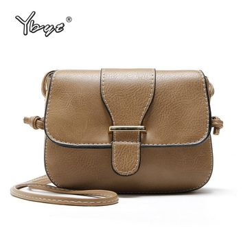 YBYT brand 2018 vintage casual women satchels PU leather saddle bag ladies party purse shoulder female messenger crossbody bags