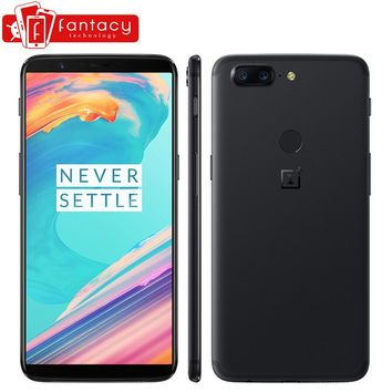 """OnePlus 5T 5 T 6GB 64GB Snapdragon 835 Octa Core 6.01"""" 1080x2160P 18:9 20.0MP 16.0MP Fingerprint ID OxygenOS Android SmartPhone"""