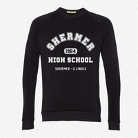 Shermer High school 1984 fleece crewneck sweatshirt
