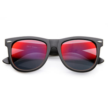 Oversized Horn Rimmed Sunglasses with Metal Rivets