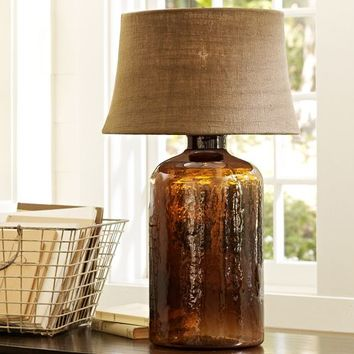 CLIFT GLASS TABLE LAMP BASE   ESPRESSO