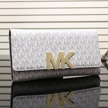 Perfect MK Women Leather Zipper Buckle Wallet Purse