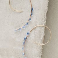 Jess Panza Spiral Galaxy Hoops in Blue Size: One Size Earrings