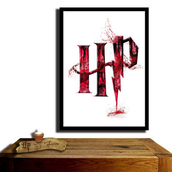 Harry Potter Poster, Gryffindor House....Paint effect poster